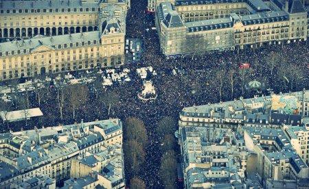 Marcha de la unidad en la Plaza de la República, en París, el 11 de enero de 2015, tras los ataques perpetrados contra la revista satírica Charlie Hebdo / Kenzo Tribouillard / AFP PHOTO