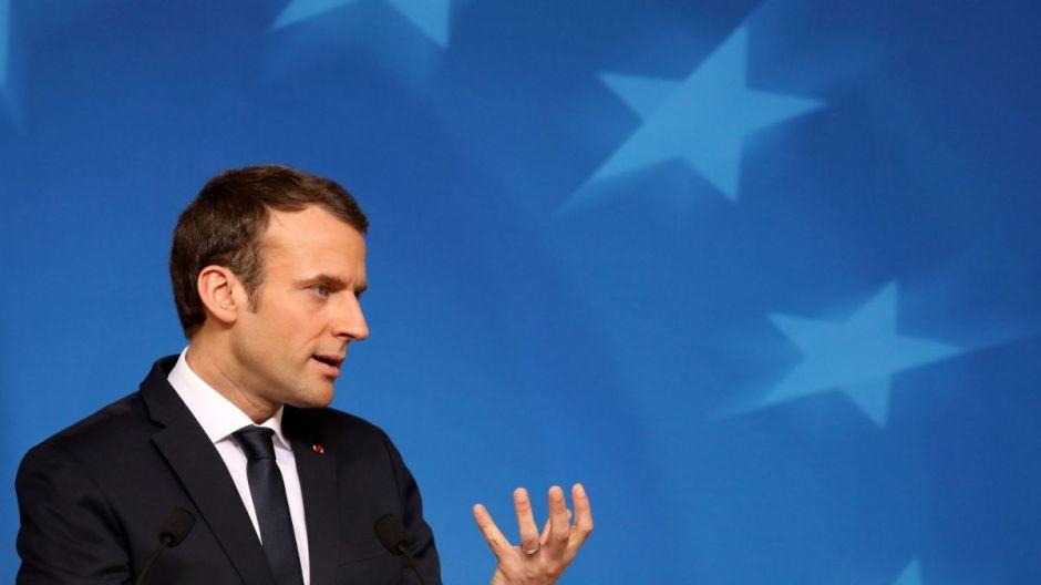 Emmanuel Macron en la Universidad de la Sorbona en París en septiembre de 2017.