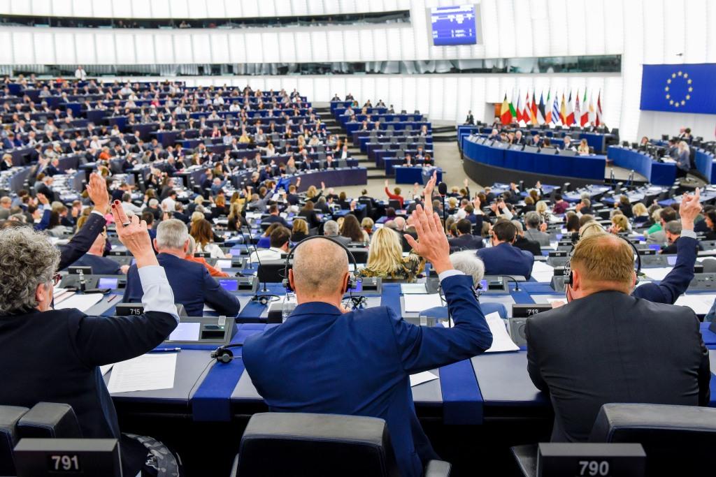 Sesión plenaria en el Parlamento Europeo en Estrasburgo